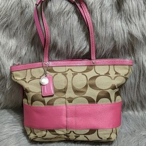 Coach Color Block Tote